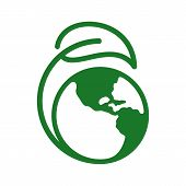 World Environment Icons Logo Concepts. World Ecology Vector For Web. Eco Vector Line Icons. Icons El poster