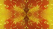 Computer Generated Abstract Background From Gold Particles. Kaleidoscope Converts Into An Seeds Sunf poster