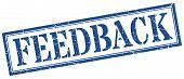 Feedback Stamp. Feedback Square Grunge Sign. Feedback poster