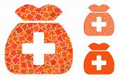 Medical Capital Fund Mosaic Of Trembly Pieces In Different Sizes And Color Hues, Based On Medical Ca poster