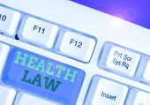 Word Writing Text Health Law. Business Concept For Law To Provide Legal Guidelines For The Provision poster