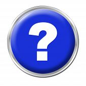 stock photo of question-mark  - blue round button with the question mark symbol - JPG