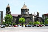 stock photo of apostolic  - Old black church in Gyumri city - JPG