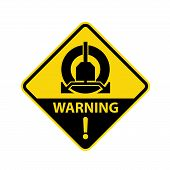 Wheel Clamping In Operation Road Sign - Parking Clamp Warning Symbol poster