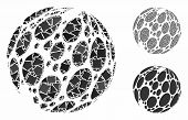 Spotted Abstract Sphere Composition Of Trembly Elements In Different Sizes And Shades, Based On Spot poster