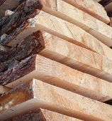 Wooden Planks. Air-drying Timber Stack. Wood Air Drying (seasoning Lumber Or Wood Seasoning). Timber poster