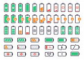 Battery Charging Logo. Charge Power Level, Smartphone Accumulator Energy Status. Cell Phone Battery  poster