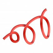 Red Curly Serpentine Icon. Cartoon Of Red Curly Serpentine Vector Icon For Web Design Isolated On Wh poster