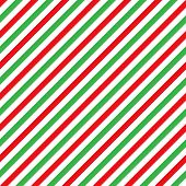 Cane Candy Diagonal Stripes Red Green White Seamless Pattern Christmas Background poster