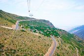 pic of ropeway  - Landscape view from ropeway altitude in Armenia - JPG