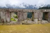 stock photo of trapezoid  - Temple of the three windows on the Sacred Plaza in Machu Picchu Peru - JPG