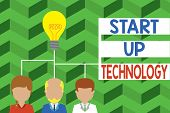Word Writing Text Start Up Technology. Business Concept For Young Technical Company Initially Funded poster