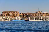 Luxor Temple Is A Large Ancient Egyptian Temple Complex On East Bank Of Nile River In Luxor (ancient poster