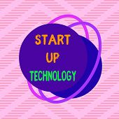 Handwriting Text Start Up Technology. Concept Meaning Young Technical Company Initially Funded Or Fi poster