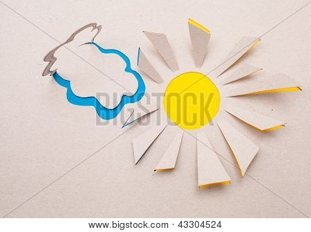 Sun  And Cloud Origami