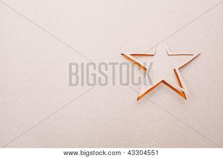 Estrela de origami.