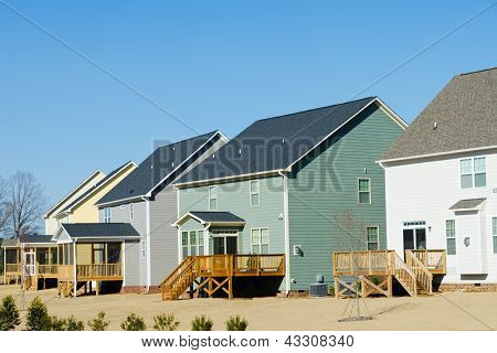Row of suburban houses