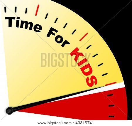 Zeit für Kiids Nachricht zeigt Playtime oder Gründung Familie