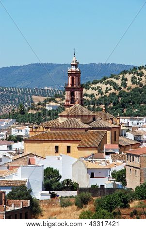 Church and village, Algodonales, Spain.