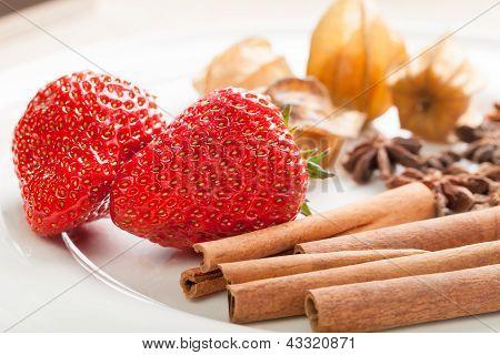 Strawberries and cinnamon