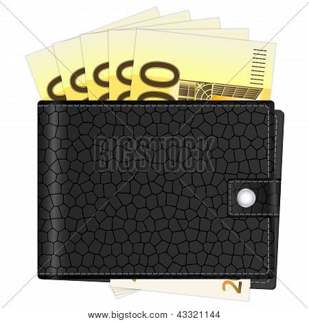 Wallet With Two Hundred Euro Banknotes