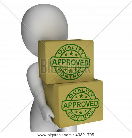 Quality Control Approved Stamps Showing Excellent Products