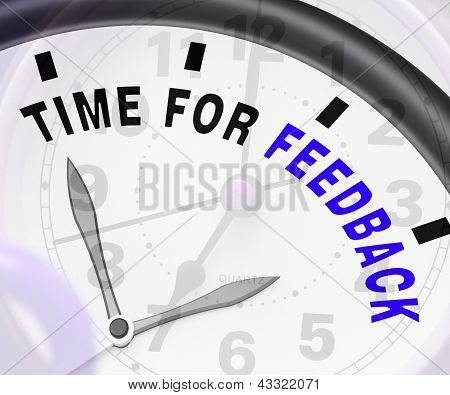 Time For Feedback Showing Opinion Evaluation And Surveys