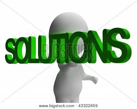 Solutions And 3D Character Showing Answers And Fixing