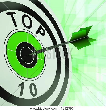 Top Ten Target Shows Successful Ranking Award