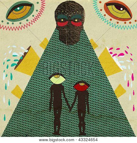 Strange love illustration.