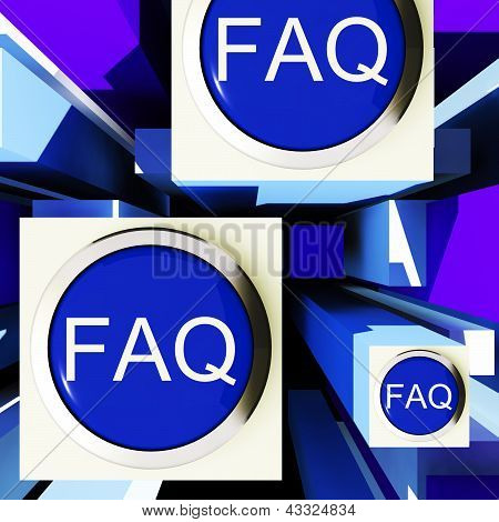 Faq Buttons On Cubes Shows Assistance