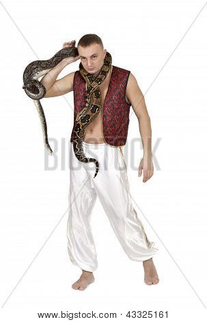 Man With Snakes