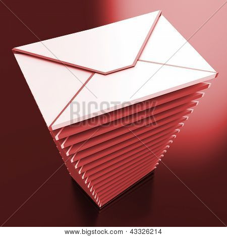 Envelopes Shows E-mail Message Inbox Mailbox