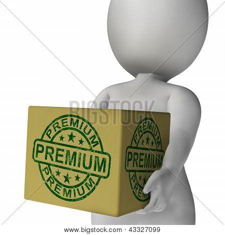 Premium Stamp On Box Shows Excellent Superior Premium Product