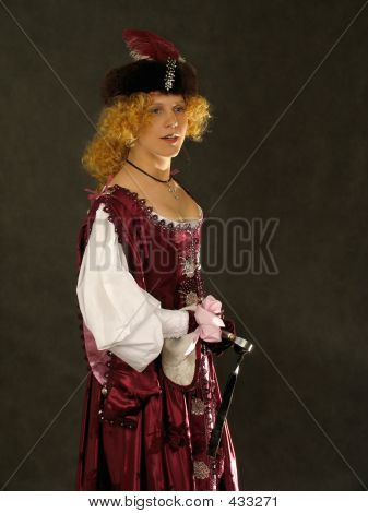 Girl In Polish Clothes Of 17 Century