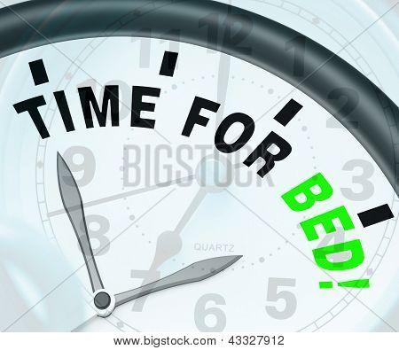 Tempo para cama Shows insônia ou cansaço