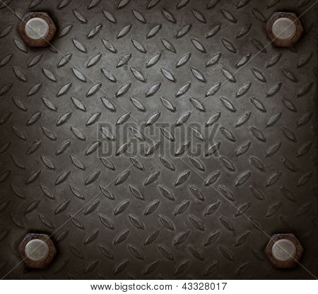 Path Of Hard Metal And Knot Use For Grungy Background