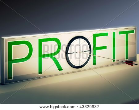 Profit Target Means Market And Trade Income