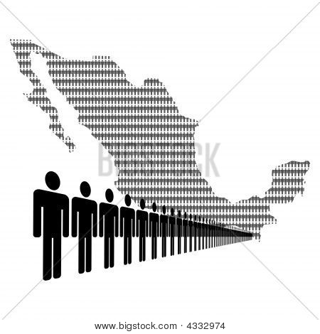 Mexican Workforce With Map