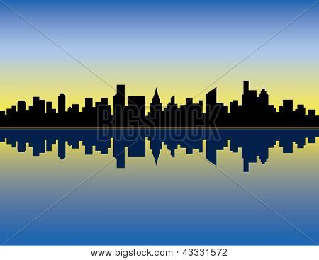 City Skyline_Sunrise