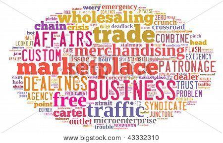 Business cloud de palabra