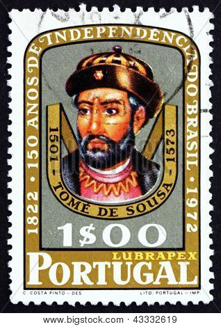 Selo postal Portugal 1972 Tomé De Sousa, nobre e soldado