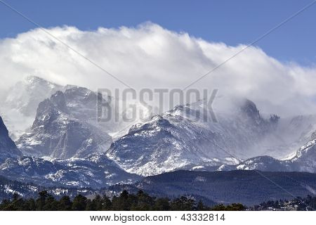 Rocky Mountain National Park with Snow Capped Peaks