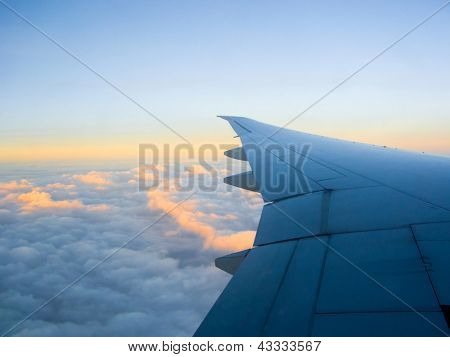 Blue Sky with Clouds-Pictures related to aviation and airplanes