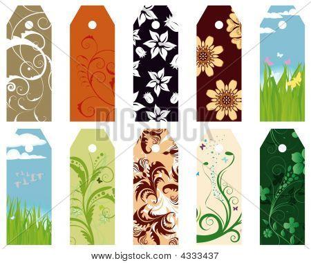 Floral Bookmarks Set