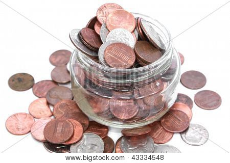 Small pocket change, American coins