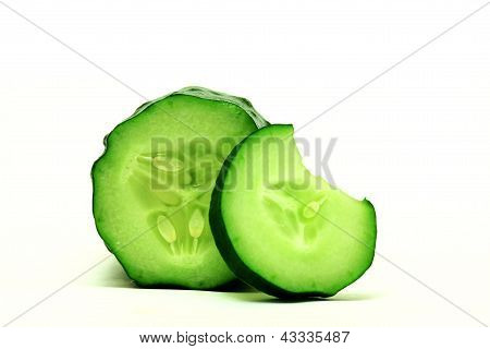 Cucumber and bite sliced