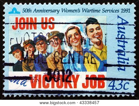 Postage Stamp Australia 1991 Women's Wartime Services