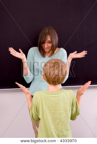 Female Teacher And Male Student
