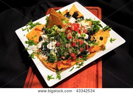 Summer Nachos With Cheese And Chicken